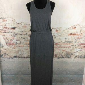 Madewell M Gray Jersey Maxi Dress Elastic Waist
